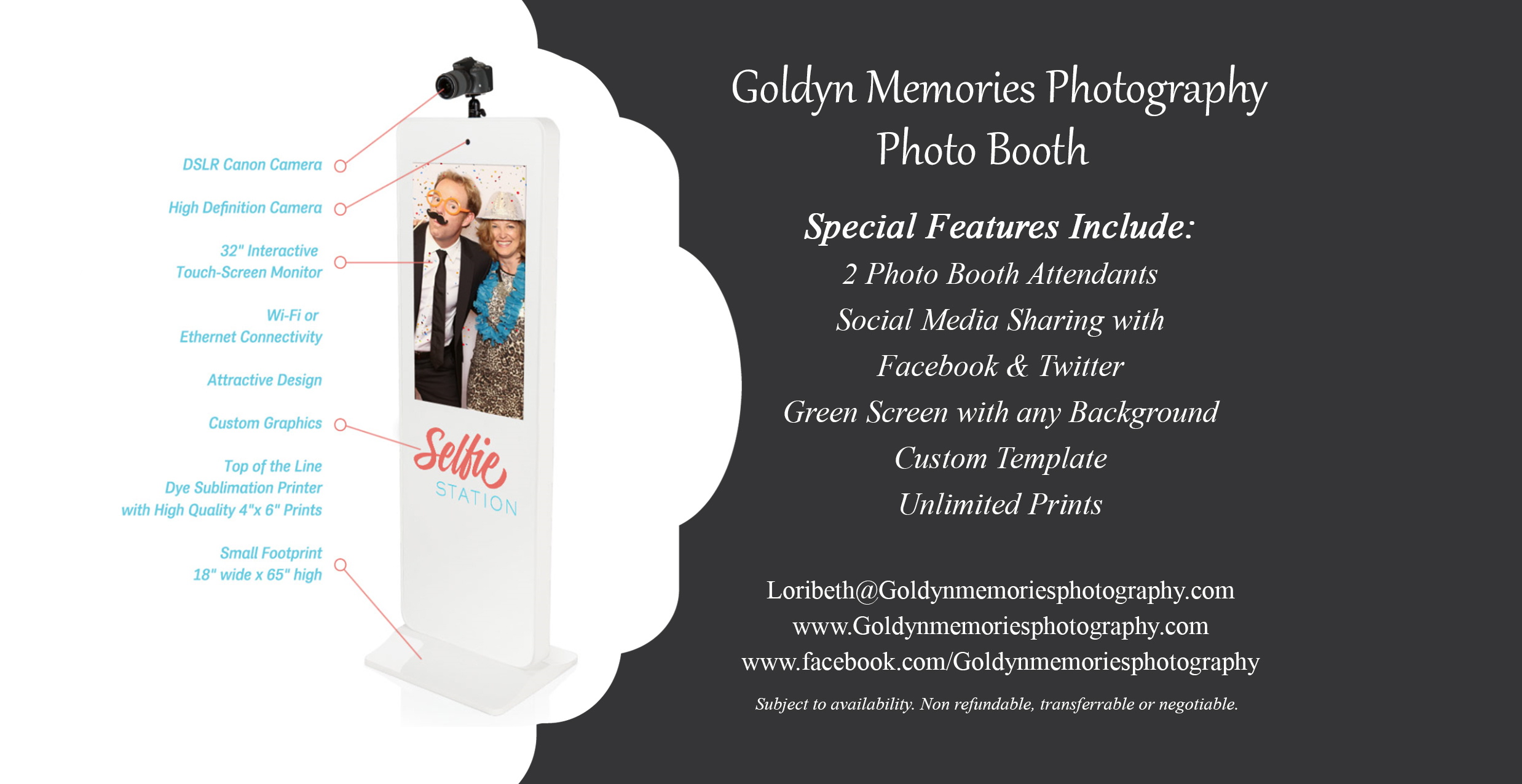 4x8 for Selfie Station Info (No Price)